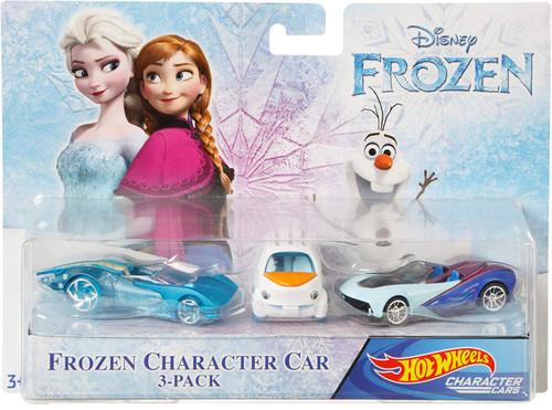 Disney Hot Wheels Character Cars Frozen Die Cast Car 3-Pack