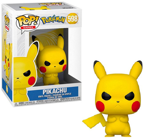 Funko Pokemon POP! Games Pikachu Vinyl Figure #598 [Angry Face]