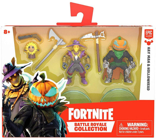 Fortnite Epic Games Battle Royale Collection Hay Man & Hollowhead 2-Inch Mini Figure 2-Pack