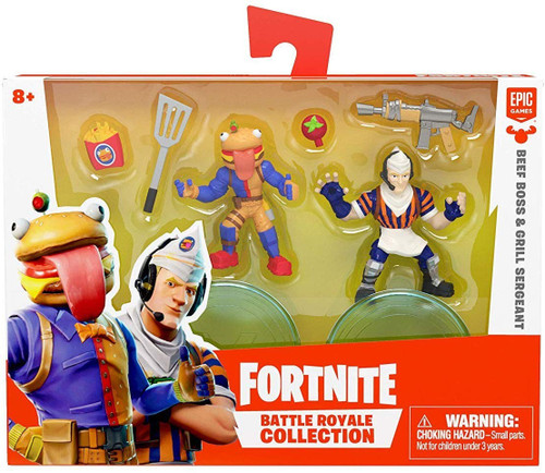 Fortnite Epic Games Battle Royale Collection Beef Boss & Grill Sergeant 2-Inch Mini Figure 2-Pack