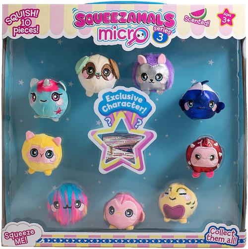 Squeezamals Micro Series 3 Micro Plush 10-Pack [RANDOM Plush]
