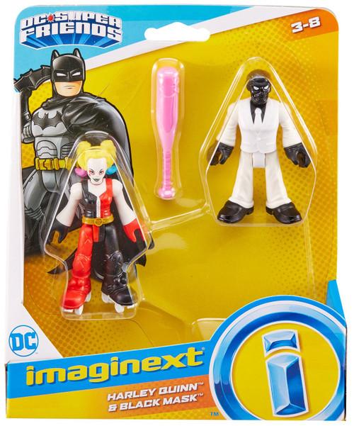 Fisher Price DC Super Friends Imaginext Harley Quinn & Black Mask Figure Set