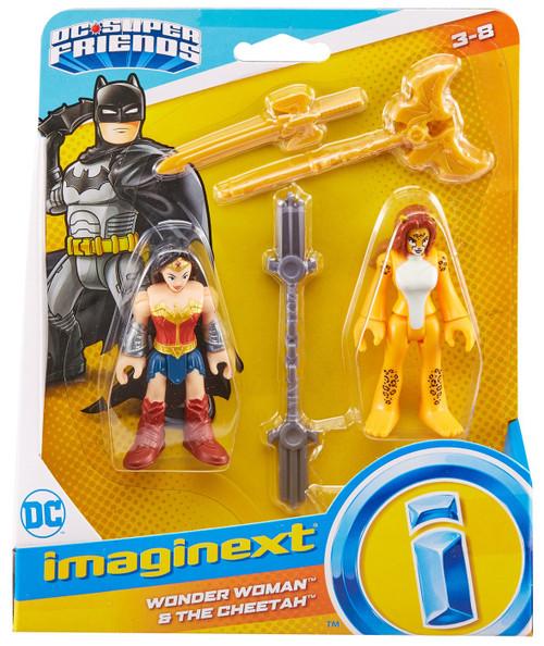 Fisher Price DC Super Friends Imaginext Wonder Woman & The Cheetah Figure Set [Version 2]