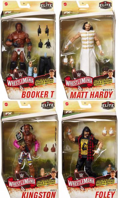"WWE Wrestling Elite Collection Build Referee ""Dangerous"" Danny Davis Set of 4 Action Figures"