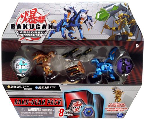 Bakugan Armored Alliance Baku-Gear Dragonoid Ultra & Howlkor Ultra Baku-Gear Pack