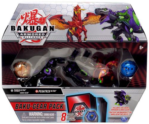 Bakugan Armored Alliance Baku-Gear Trox Ulra & Pegatrix Ultra Baku-Gear Pack