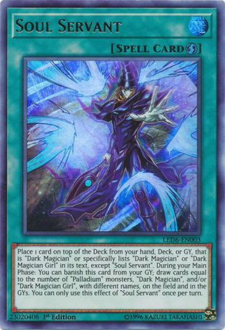 YuGiOh Legendary Duelists: Magical Hero Ultra Rare Soul Servant LED6-EN003