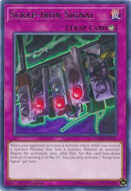 YuGiOh Legendary Duelists: Magical Hero Rare Scrap-Iron Signal LED6-EN027