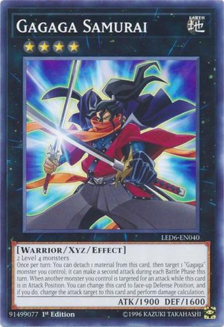YuGiOh Legendary Duelists: Magical Hero Common Gagaga Samurai LED6-EN040