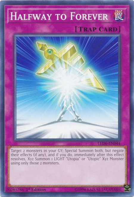 YuGiOh Legendary Duelists: Magical Hero Common Halfway to Forever LED6-EN044