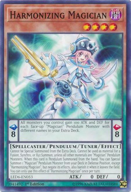 YuGiOh Legendary Duelists: Magical Hero Common Harmonizing Magician LED6-EN053