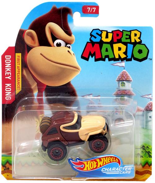 Hot Wheels Super Mario Character Cars Donkey Kong Diecast Car #7/7 [2019]
