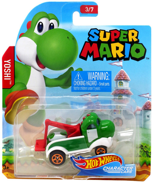 Hot Wheels Super Mario Yoshi Diecast Car #3/7