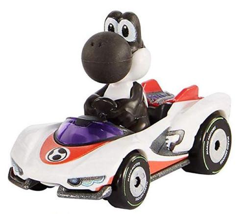Hot Wheels Mario Kart Black Yoshi Diecast Car [P-Wing Loose]