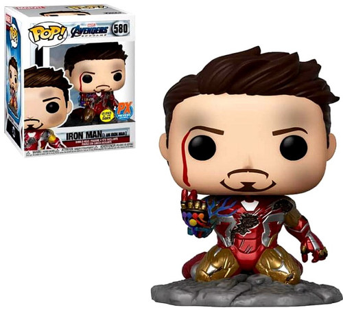 Funko Avengers Endgame POP! Marvel Iron Man Exclusive Vinyl Bobble Head #580 [I am Iron Man, Glow-in-the-Dark]
