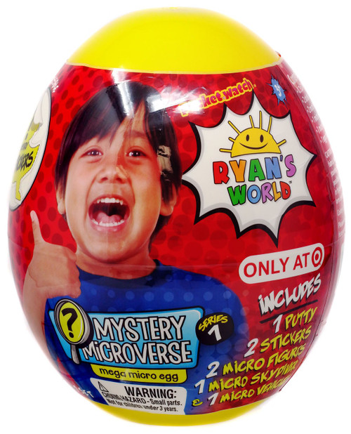 Ryan's World Mystery Microverse Mega Micro Egg Exclusive Mystery Surprise
