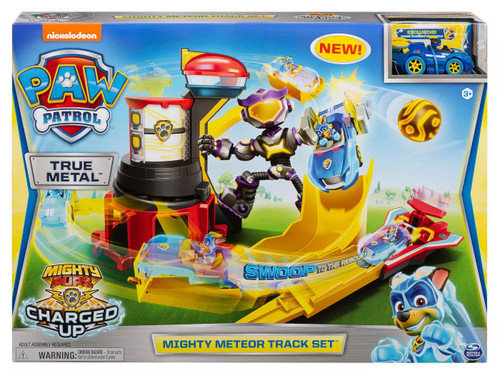 Paw Patrol Mighty Pups Charged Up True Metal Mighty Meteor Track Set [Exclusive Chase Vehicle!]