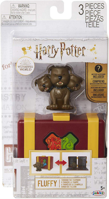 Harry Potter Through the Trapdoor Fluffy Mini Figure Playset