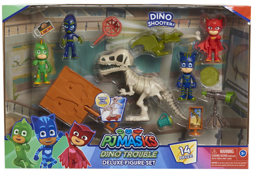 Disney Junior PJ Masks Dino Trouble Deluxe Figure Set [14 Pieces!]