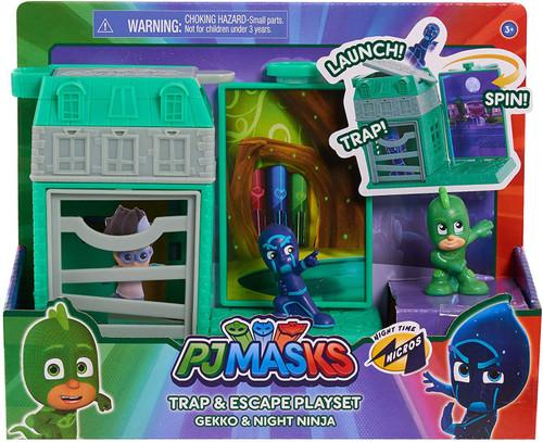 Disney Junior PJ Masks Trap & Escape Gekko & Night Ninja Playset
