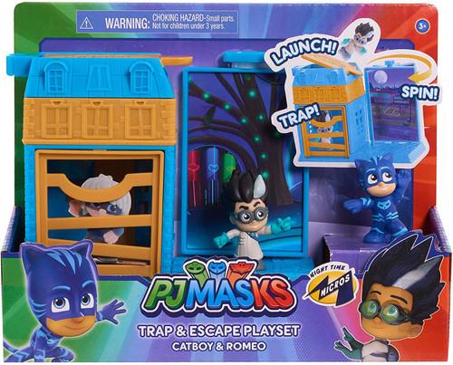 Disney Junior PJ Masks Trap & Escape Catboy & Romeo Playset