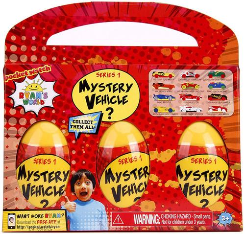 Pocket Watch Ryan's World Series 1 Vehicles Mystery 3-Pack