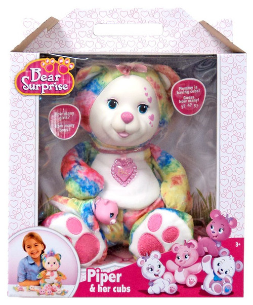 Bear Surprise Piper & Her Cubs Plush Toy [Damaged Package]