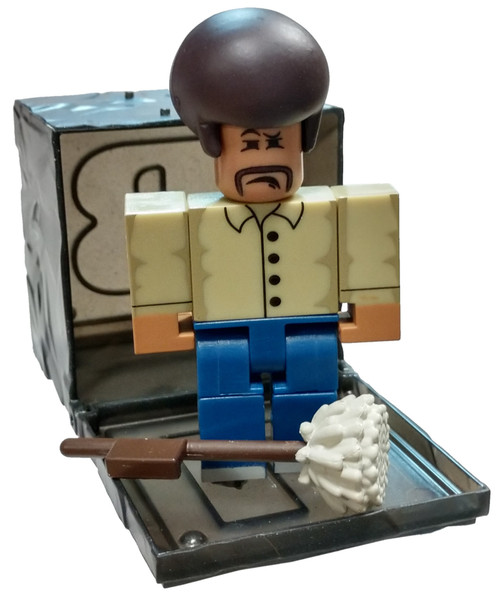 Roblox Series 7 High School Life: Paul the Janitor 3-Inch Mini Figure [with Black Cube and Online Code Loose]