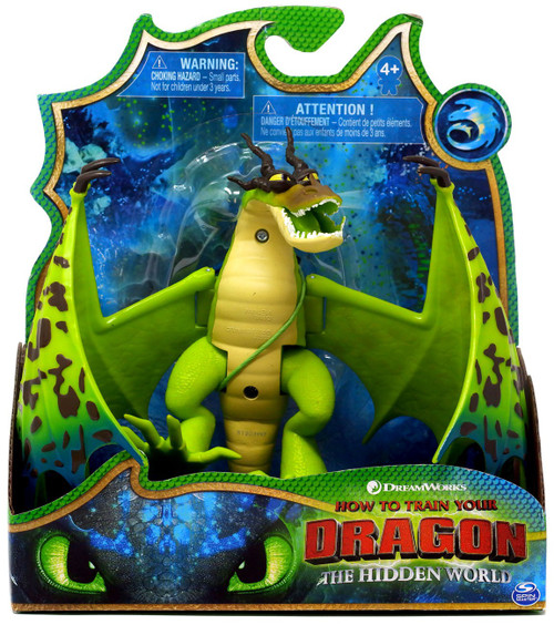 How to Train Your Dragon The Hidden World Monstrous Nightmare Basic Action Figure [Green, Damaged Package]