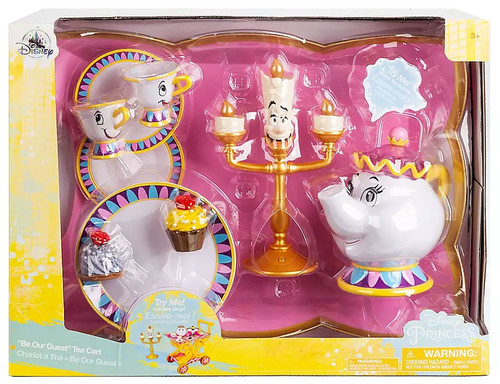 "Disney Princess Beauty and the Beast ""Be Our Guest"" Singing Tea Cart Exclusive Playset [2019, Damaged Package]"