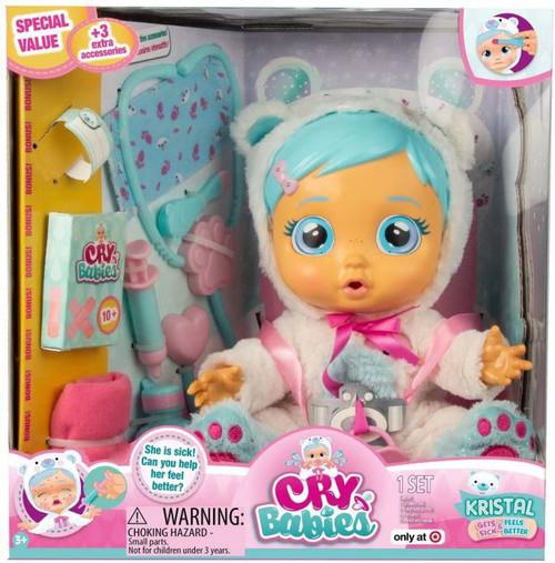 Cry Babies Kristal Exclusive Deluxe Doll [3 Extra Accessories, Damaged Package]