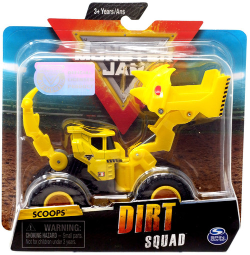 Monster Jam Dirt Squad Scoops Diecast Car [Yellow]
