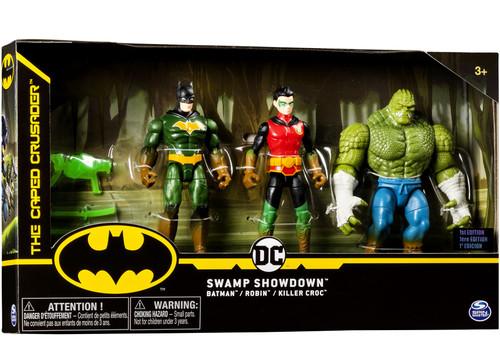 DC The Caped Crusader Swamp Showdown Exclusive Action Figure 3-Pack [Batman, Robin & Killer Croc]