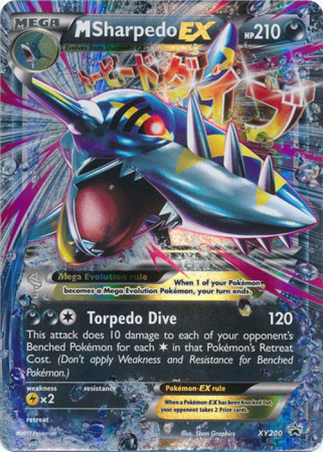 Pokemon X & Y Promo Rare M Sharpedo EX XY200