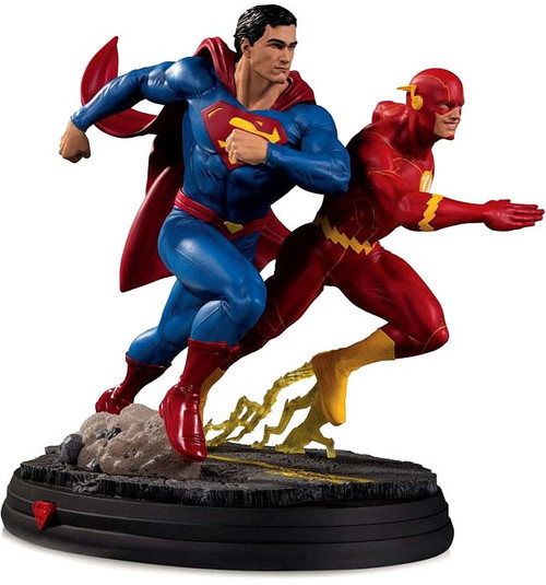 DC Superman Vs. The Flash Racing 10.4-Inch Statue [2nd Production Run] (Pre-Order ships October)