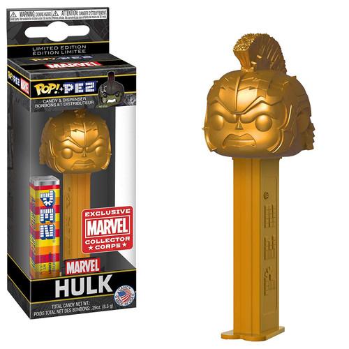 Funko Marvel POP! PEZ Hulk Exclusive Candy Dispenser [Gold, Marvel Studios 10 Box, Damaged Package]