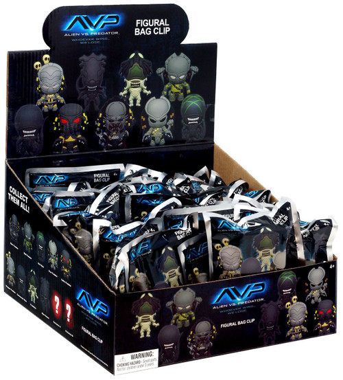 Alien vs Predator 3D Figural Foam Bag Clip Alien Vs. Predator Series 1 Alien Vs. Predator Mystery Box [24 Packs]