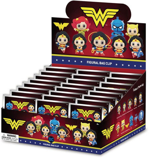 DC 3D Figural Keyring Wonder Woman Classic Series 1 Mystery Box [24 Packs]