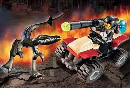 LEGO Dino Attack Street Sprinter vs. Mutant Lizard Set #7473