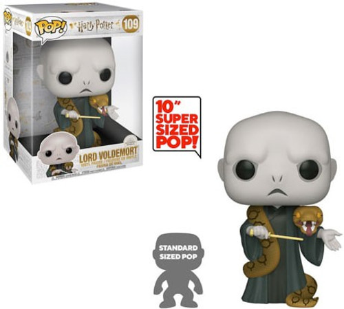 Funko Harry Potter POP! Movies Voldemort with Nagini 10-Inch Vinyl Figure #109 [Super-Sized]