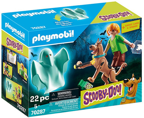 Playmobil Scooby-Doo! Scooby & Shaggy with Ghost Set #70287