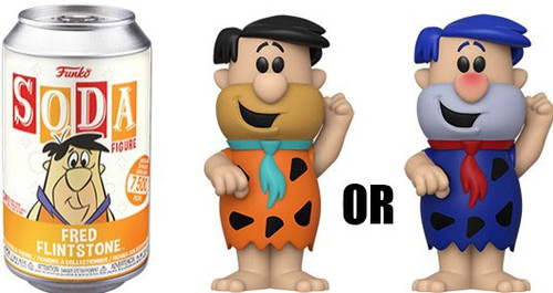 Funko Hanna-Barbera Vinyl Soda Fred Flinstone Limited Edition of 7,500! Vinyl Figure [1 RANDOM Figure! Look For The Chase!]