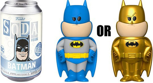 Funko DC Vinyl Soda Batman Limited Edition of 10,000! Vinyl Figure [1 RANDOM Figure Look For The Chase!]
