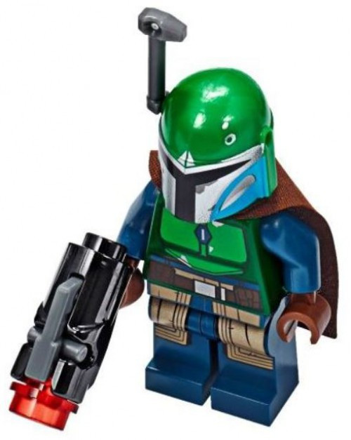LEGO Star Wars The Mandalorian Female Mandalorian Warrior Minifigure [Dark Blue, Brown Cape, Green Helmet / Rangefinder Loose]