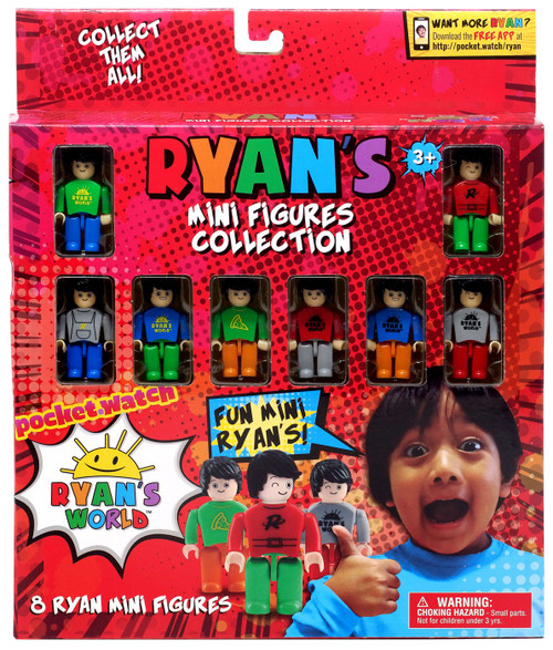 Pocket Watch Ryan's World Ryan's Mini Figure Collection 8-Pack