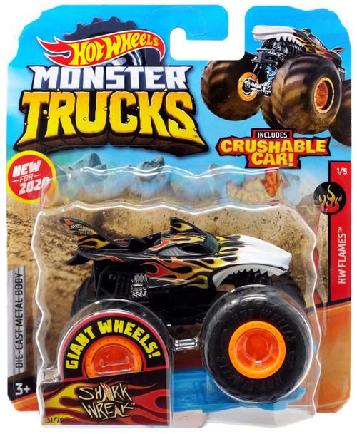 Hot Wheels Monster Trucks HW Flames Shark Wreak Diecast Car #1/5