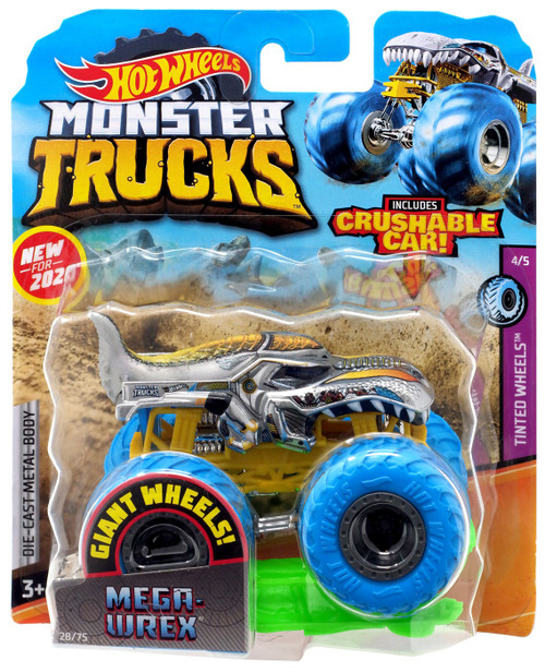 Hot Wheels Monster Trucks Tinted Wheels Mega-Wrex Diecast Car