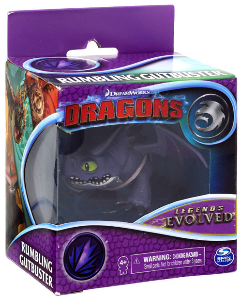 How to Train Your Dragon Dragons Legends Evolved Rumbling Gutbuster 3-Inch Figure