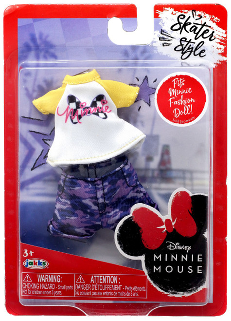 Disney Minnie Mouse Skater Style 9-Inch Doll Accessory