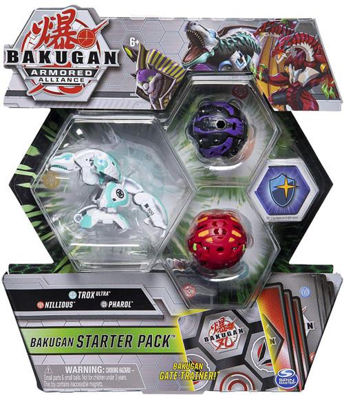 Bakugan Battle Planet Armored Alliance Trox Ultra, Nillious & Pharol Starter Pack